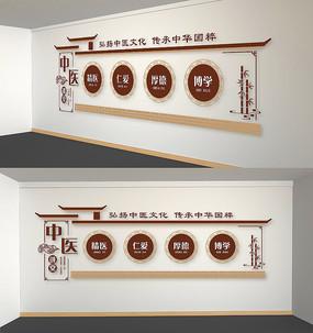 中国风中医文化墙设计