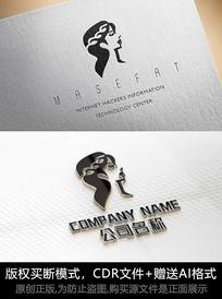 女性logo标志女人商标设计