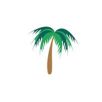 彩色椰子树图标