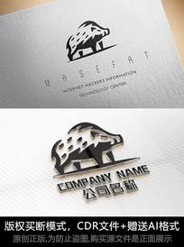 创意猪logo标志商标设计