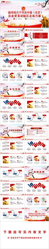 关于印发中国北京自由贸易试验区总体方案PPT