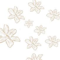 石斛花底纹