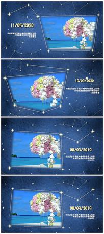 唯美爱情婚礼相册开场视频模板