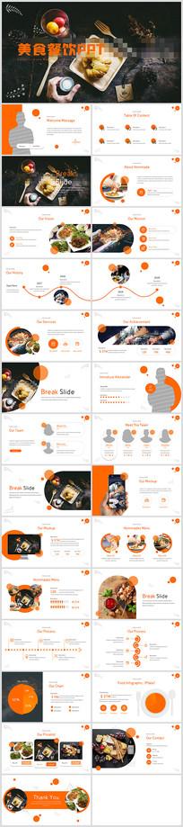 创意传统美食文化餐饮餐厅宣传PPT模板