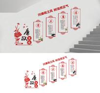 楼梯廉政文化墙展板
