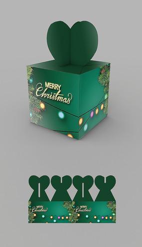 绿色圣诞节礼盒包装