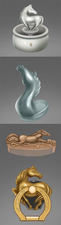 马的器物造型设计