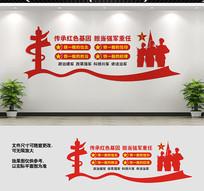 四铁部队文化墙标语
