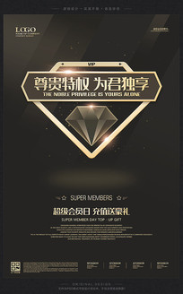 VIP会员日促销活动宣传海报