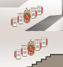 校园四有好老师楼梯走廊文化墙