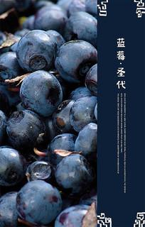 简约蓝莓海报设计
