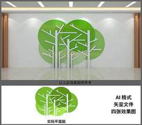 文化一角书架文化墙设计