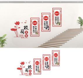 校园楼梯文化墙宣传标语