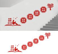 校园楼梯宣传标语文化墙