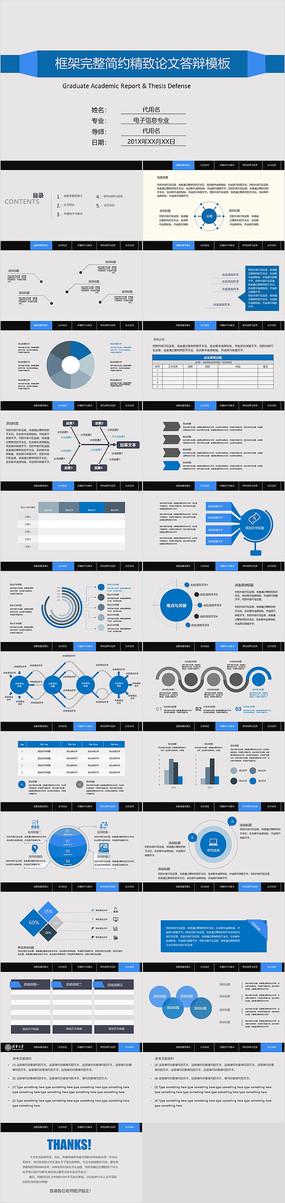 蓝色简洁实用型开题报告毕业论文答辩ppt
