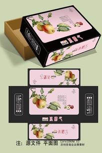 苹果冰糖心天地盖包装设计