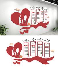 中式社区家风家训社区文化墙