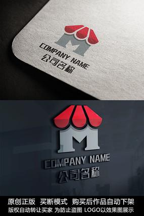M字母logo