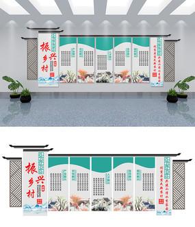 古典中国风振兴乡村文化墙设计