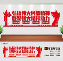 弘扬民族精神民族团结党建宣传文化墙
