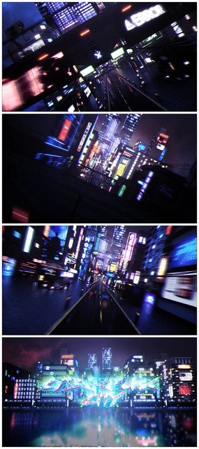 科技城市穿梭logo視頻模板