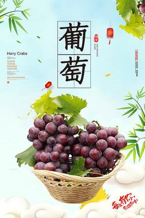 葡萄水果促销海报
