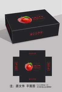 黑色简约苹果包装礼盒