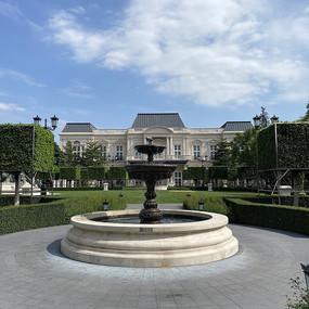 欧式圆形喷泉装饰意向图