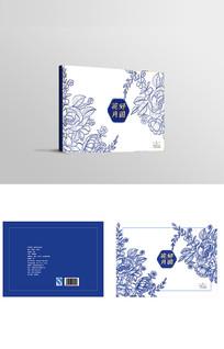中国风古典青花瓷普洱茶叶包装设计