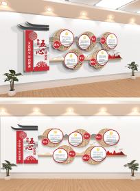 中国风五心好党员五好党员党建文化墙