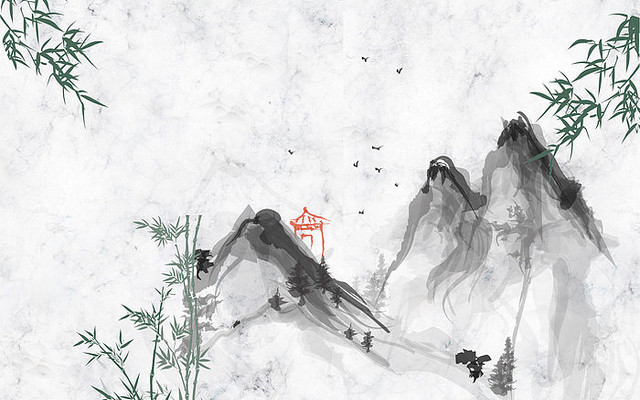 竹报平安背景墙