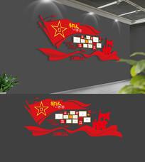 红色部队风采部队文化墙