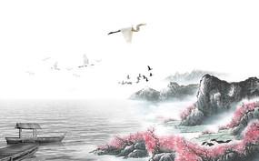 江山如画背景墙
