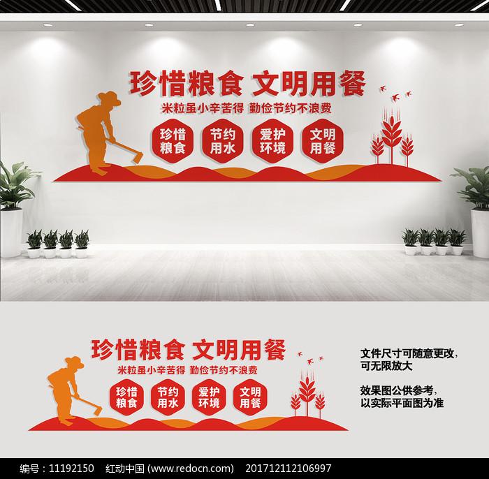校园食堂宣传标语文化墙图片