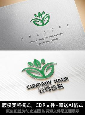 叶子logo标志公司商标设计