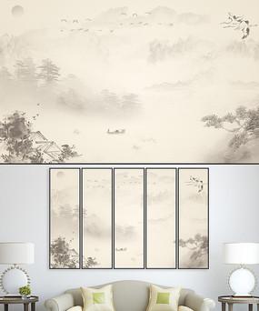 中国风水墨室内装饰画