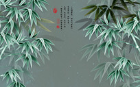 中国风雅竹背景墙