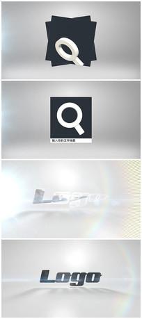 3d搜索框搜索logo片头ae模板
