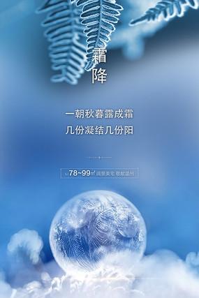 大气霜降24节气海报设计