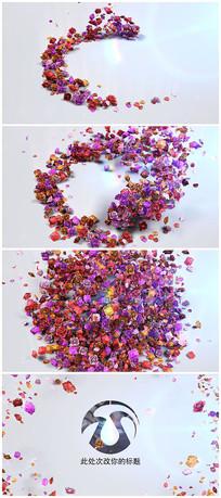互动花瓣动态LOGO视频模板