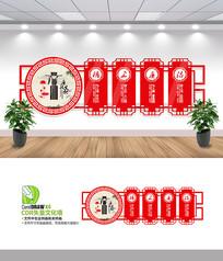 廉政宣传文化墙设计模板