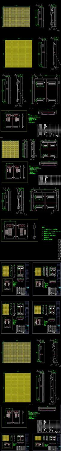 广场LED广告牌结构CAD设计图