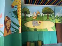 童趣动物墙面涂鸦