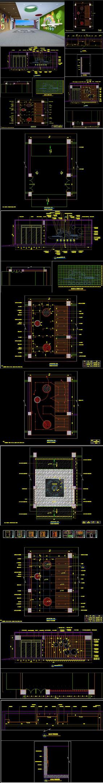 学校展厅CAD施工图 效果图
