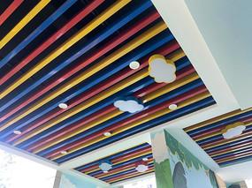 幼儿园彩虹天花板