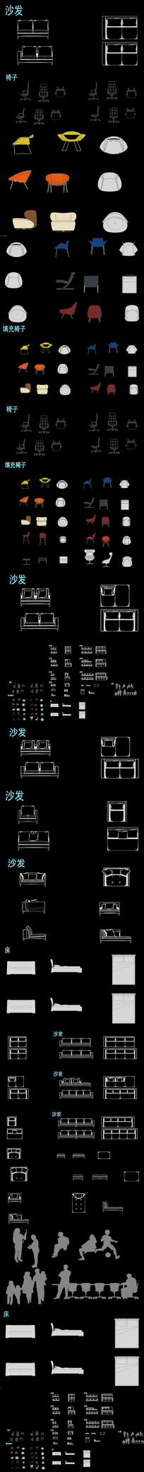 装修素材动态块CAD图库