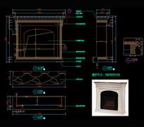 壁炉CAD图纸柜子CAD图库