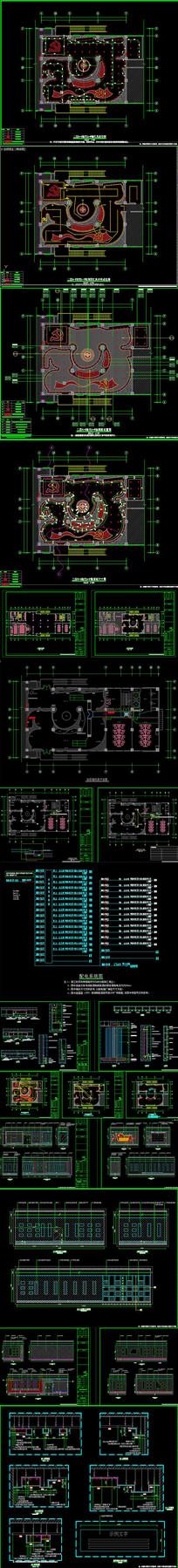 党建文化展厅CAD施工图
