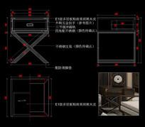 港式轻奢CAD床头柜CAD柜子CAD图库