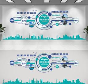 蓝色科技公司企业文化墙